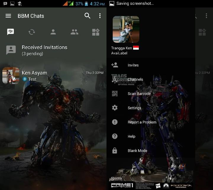 BBM MOD Optimus Prime (Transformers) v3.2.5.12 APK