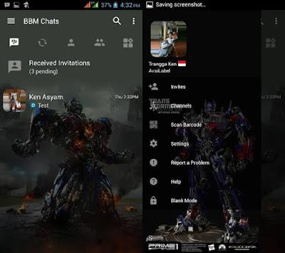 BBM MOD Optimus Prime (Transformers) v3.2.5.12 APK