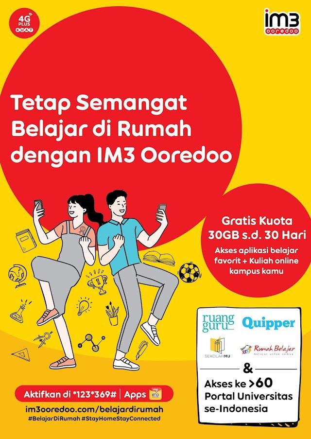 Dukung Belajar di Rumah,  Indosat Ooredoo Berikan Kuota Gratis 30 Hari
