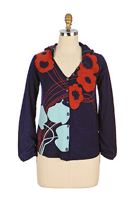 Anthropologie Secret Garden Hoodie