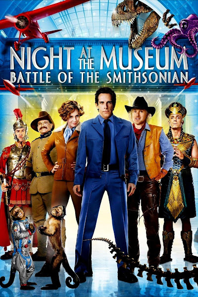 Poster of Night at the Museum 2 Battle of the Smithsonian (2009) Dual Audio [Hindi-DD5.1] 720p BluRay ESubs Download