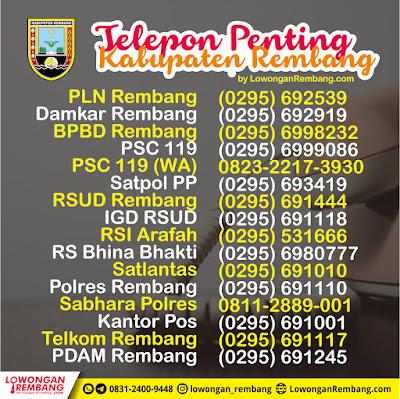 Kamu Wajib Simpan Telepon Penting Kabupaten Rembang Ini