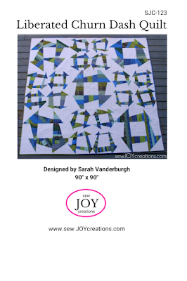 Liberated churn dash quilt pattern Sarah Vanderburgh