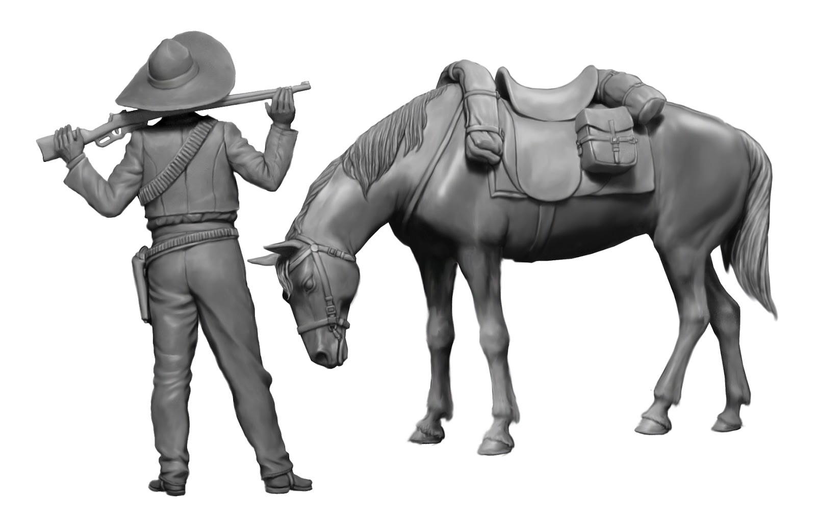 MASTER BOX™ 35204 Outlaw Kit No Gunslinger Series #2 in 1:35