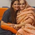 Rakshanda Khan with her mother