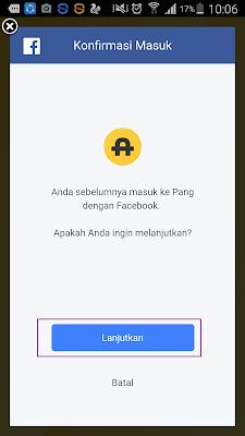 Cara Login di Aplikasi Pang Android