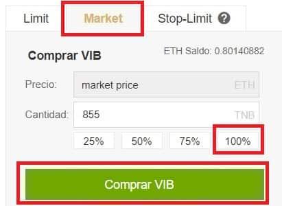 Comprar Viberate (VIB) en Binance y Coinbase