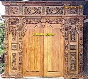 Pintu Ukir Gebyok Minimalis