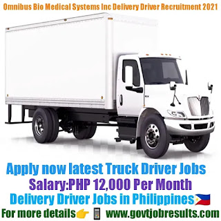 Omnibus Bio Medical Systems Inc Delivery Driver Recruitment 2021-22