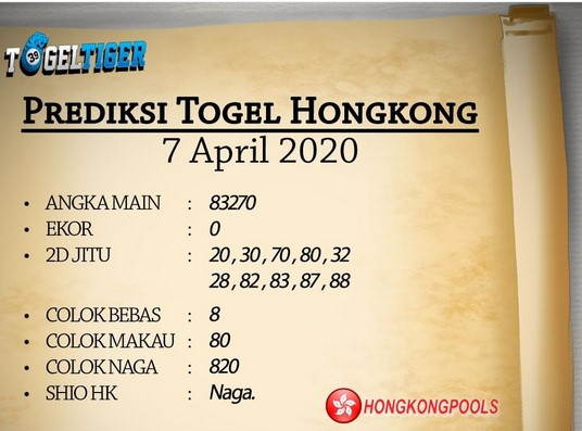 Prediksi Togel Hongkong Rabu 08 April 2020 - Prediksi Togel Tiger