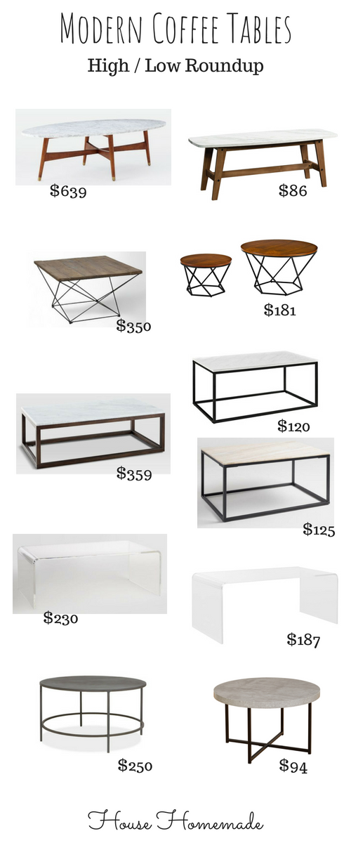 Swell House Homemade Modern Coffee Tables High Low Roundup Gmtry Best Dining Table And Chair Ideas Images Gmtryco
