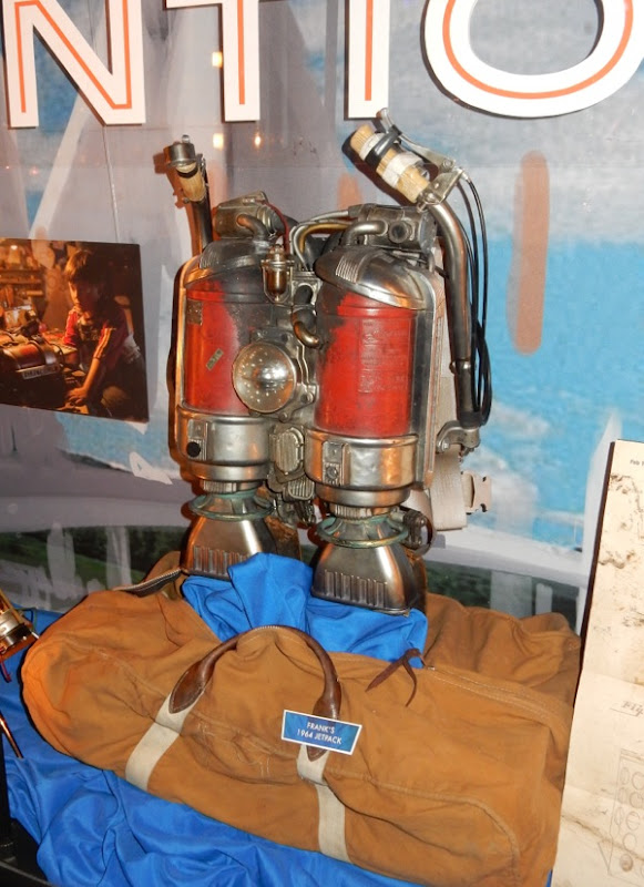 Young Frank Walker 1964 jetpack prop Tomorrowland