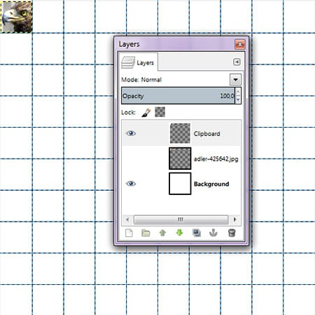 Create a selection, drag your mouse over part of the image. You can delete the original photo layer.