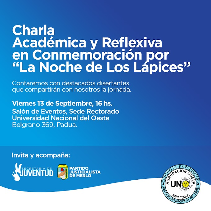 Flyer para Charla de la Agrupación Nueva UNO