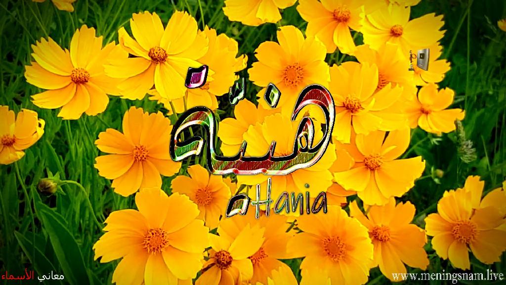 معنى اسم هنية وصفات حاملة هذا الاسم Hania