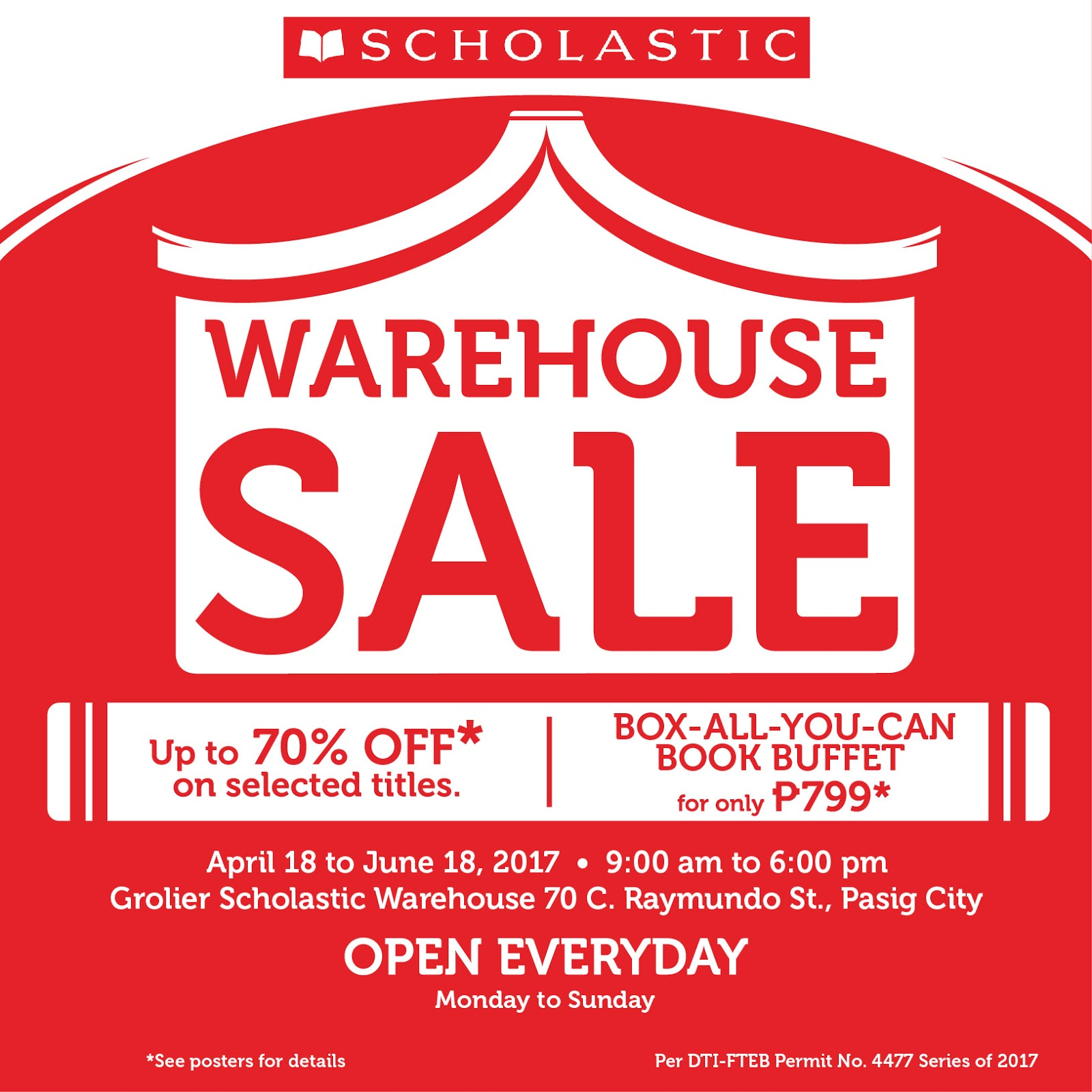 Book fair chairpeople who have Scholastic Dollars to spend at the Warehouse Sale will receive $25 off their purchase of $ or more! All items purchased with Scholastic Dollars will be sold at the full cover/stickered price and do not qualify for buy one, get one free. Sales tax charged if applicable.