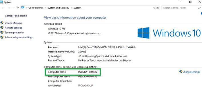 Máy tính có tên DESKTOP - J4UILIQ hiện vẫn chưa xuất hiện