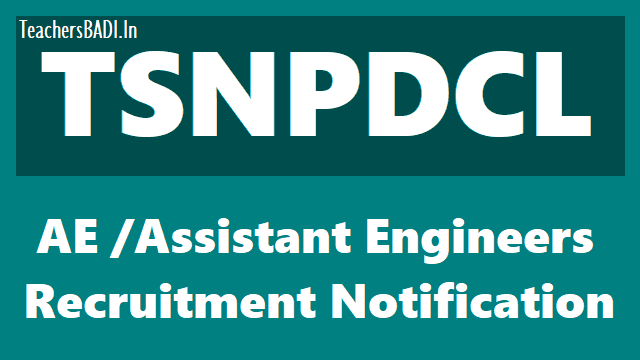 tsnpdcl assistant engineer posts 2018 recruitment notification,#results,last date,online application,exam date,hall tickets,www.tsnpdcl.in,qualifications,how to apply,online fee payment
