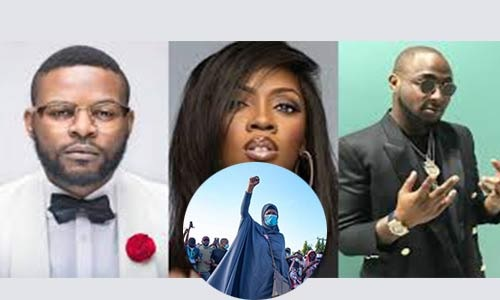 #EndSARS: Aisha Yesufu, Falz, Davido, Wizkid, Tiwa Savage, Banky W & 44 Others Dragged To Court Over Alleged Conspiracy & Promotion Of Unlawful Assembly On Twitter