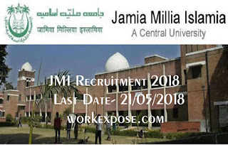 JMI Recruitment 2018 for 52 non teaching and other academic posts