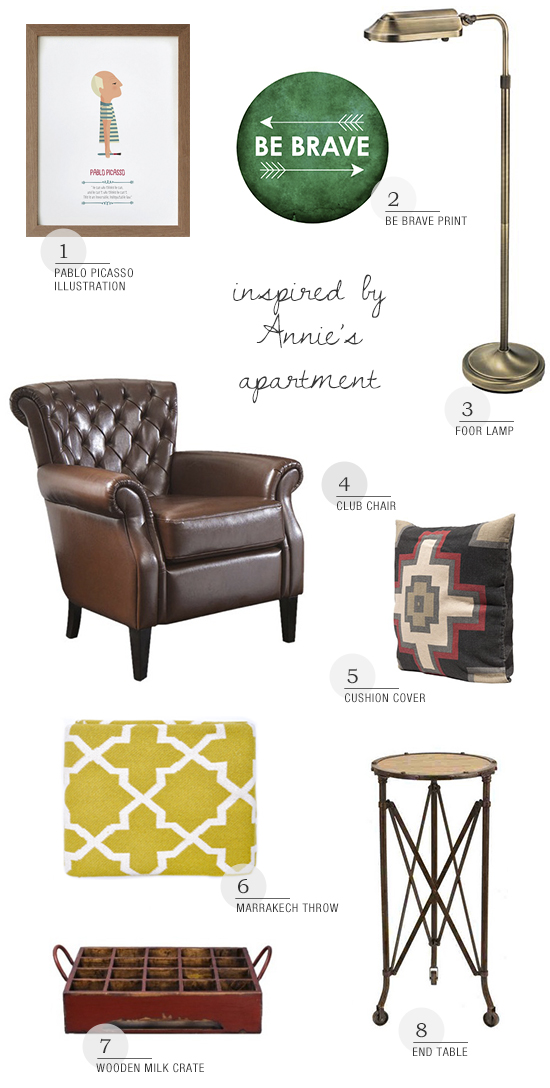 Shopping ideas to decorate your place like Annie McElwain's apartment via myparadissi.com
