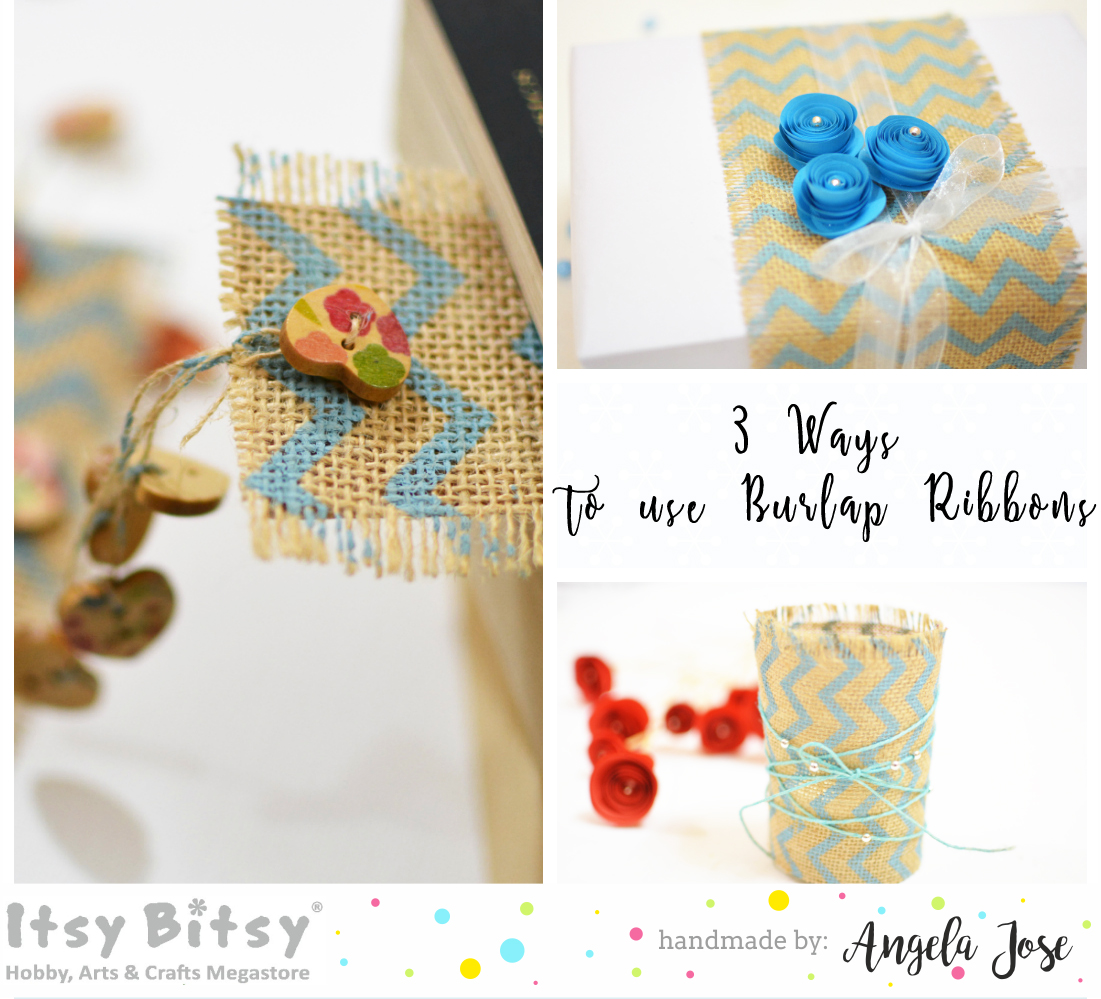 Itsy bitsy the blog place 3 ways to use burlap ribbons for Burlap ribbon craft ideas