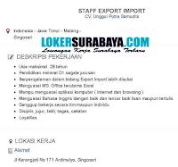 Karir Terbaru di CV. Unggul Putra Samudra Malang Singosari Desember 2019