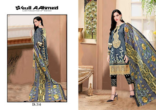 Pakistani lawn Suits Wholesale Price: Gull A Ahmed vol 4