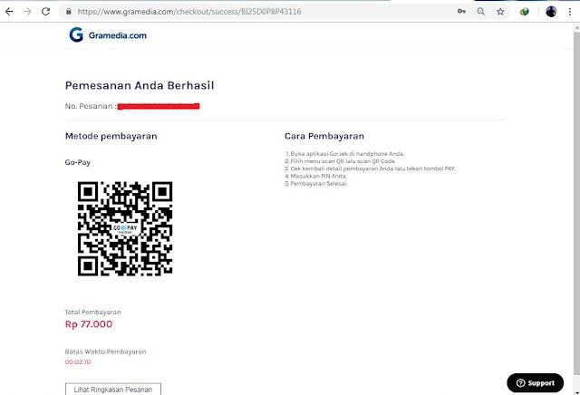 Proses pindai menggunakan kode batang atau barcode