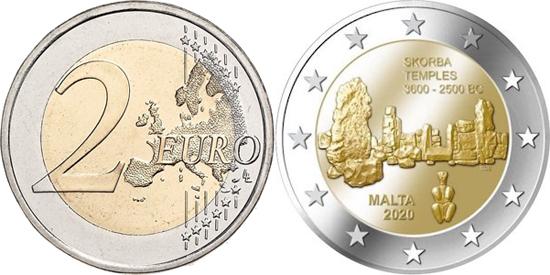Malta 2 euro 2020 - Skorba temples