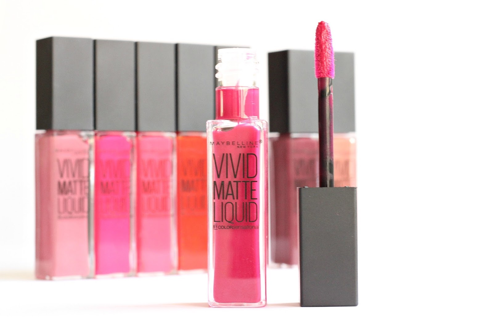 NEW Maybelline Color Sensational Vivid Matte Liquid Lipsticks Collection