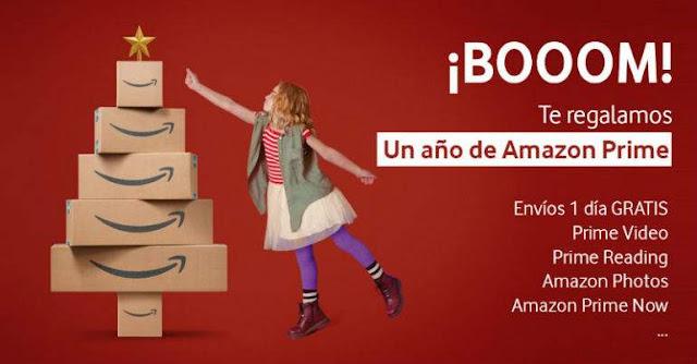 Amazon Prime gratis un año con Vodafone