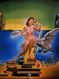 El surrealista Dalí representó a Gala siguiendo el mito de Leda y el Cisne