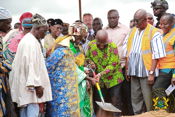 President Akufo-Addo Cuts Sod For Tamale Airport Phase 2 Project; To Be Completed In 30 Months