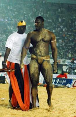Tyson is an idol in Senegal wrestling