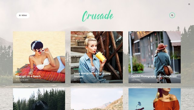 Crusade Blogger Template Free Download Premium Version | Responsive Photographic Temlate