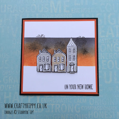 Make a New Home card using the In the City stamp set by Stampin' Up!