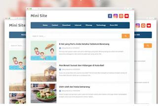 Mini SIte Pro Blogger Template