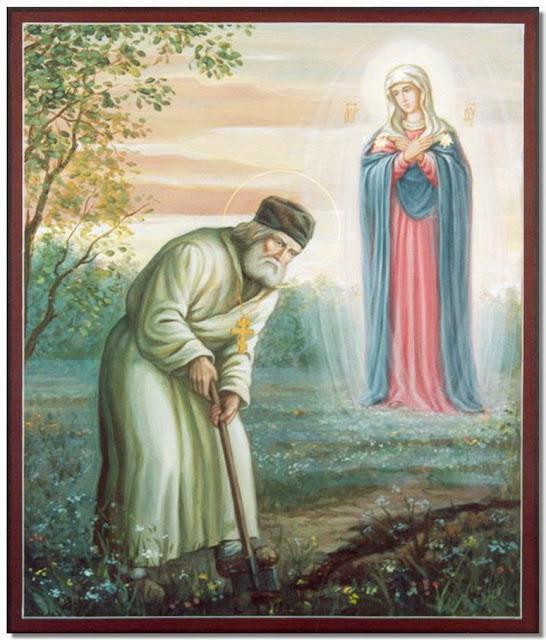 Αέναη επΑνάσταση: Η εμφάνιση της Παναγίας στον Όσιο Σεραφείμ Σαρώφ ...