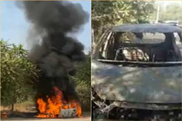 faridabad-i10-car-fire-driver-dead-29-december