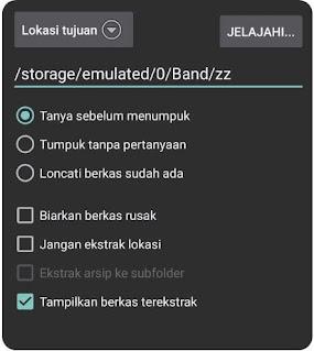 Cara ekstrak file part agar menjadi 1 folder