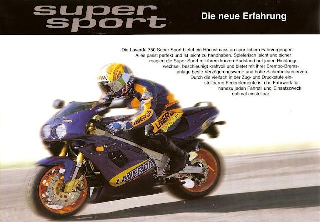 Zanè Laverda 750 Super Sport Brochure