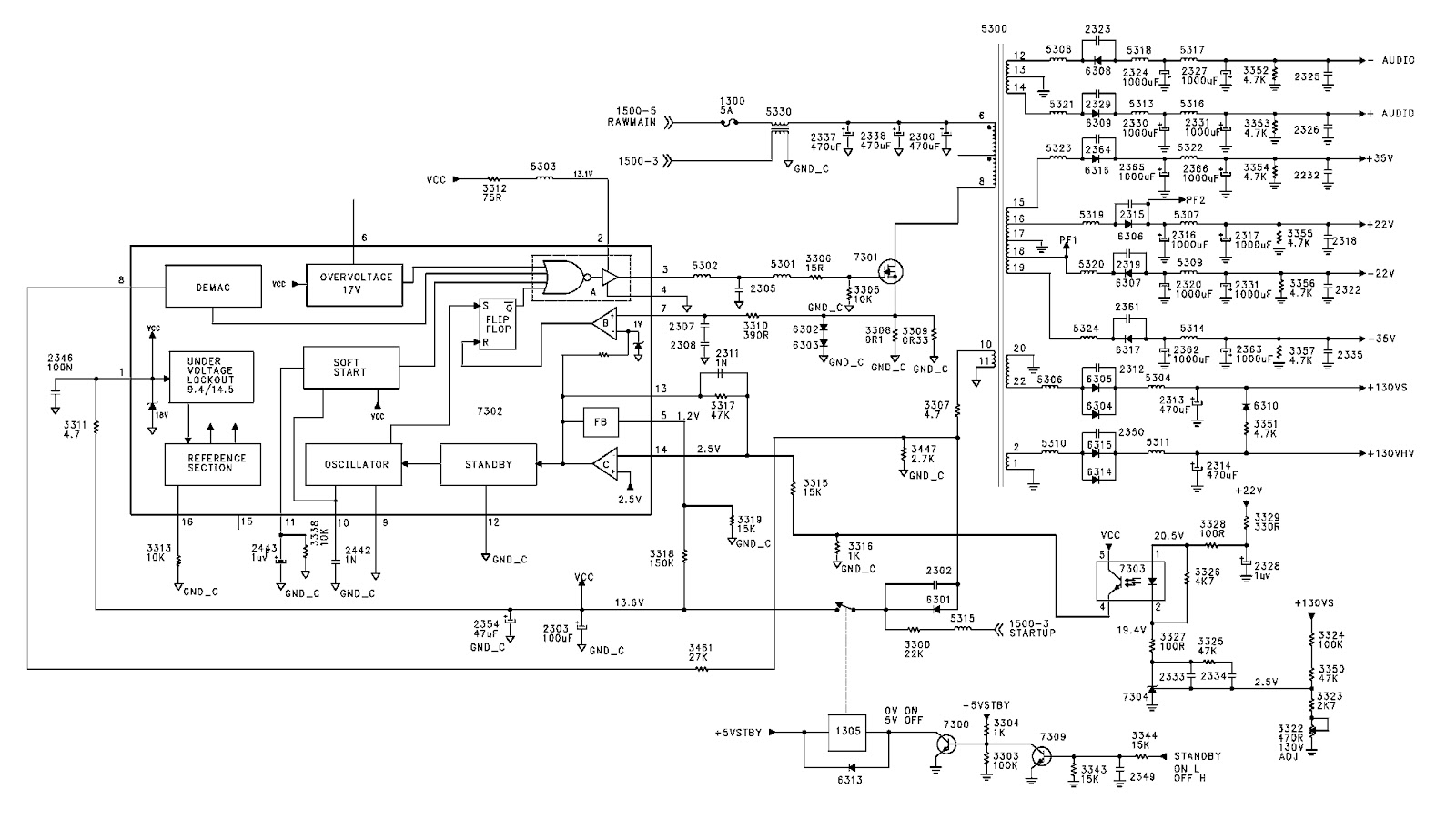 philipstvcircuitdiagram Images  Frompo  1