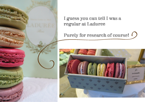 colorful and yummy macaroons from the famous Laduree Paris