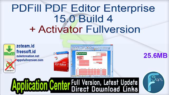 PDFill PDF Editor Enterprise 15.0 Build 4 + Activator Fullversion