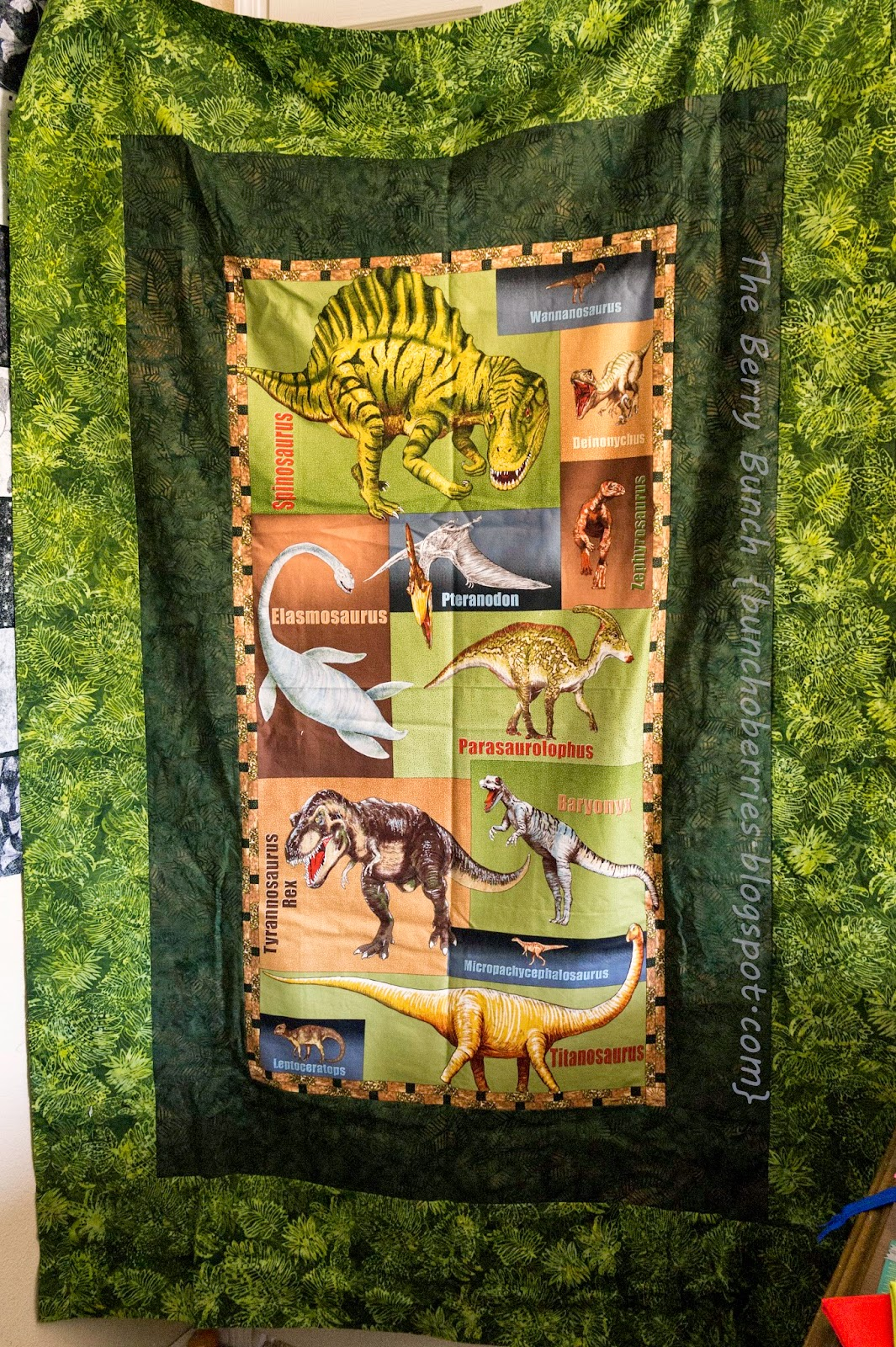 The Berry Bunch: 2014 Finish-a-long: Dinosaur Quilt