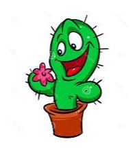 bunga kartun kaktus lucu