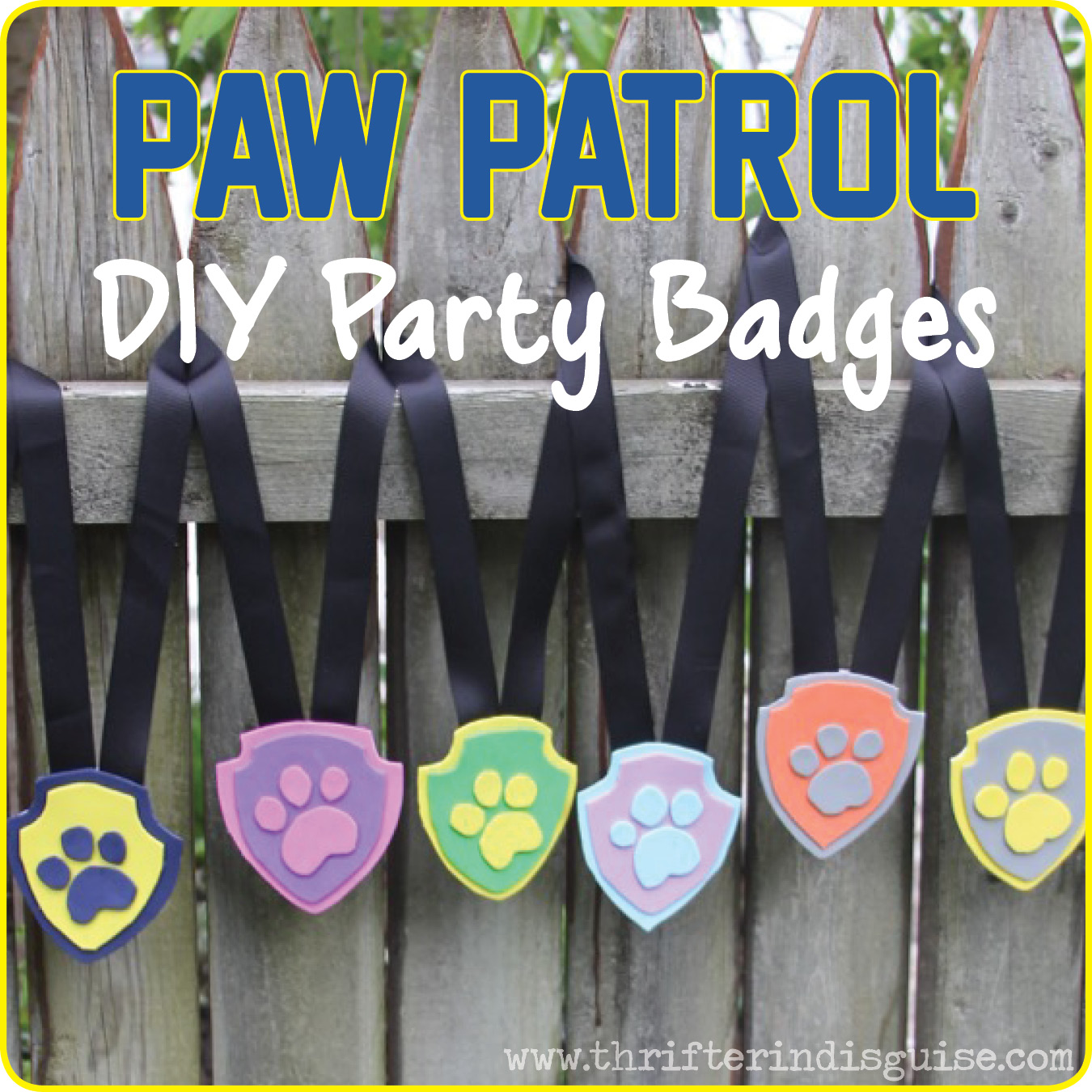 Easy Crafts For Paw Patrol
