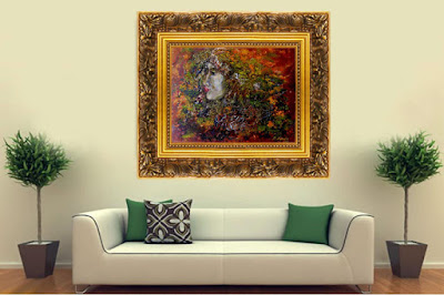 Oil Painting Forest Spirit in surreal style http://artnataly.ru