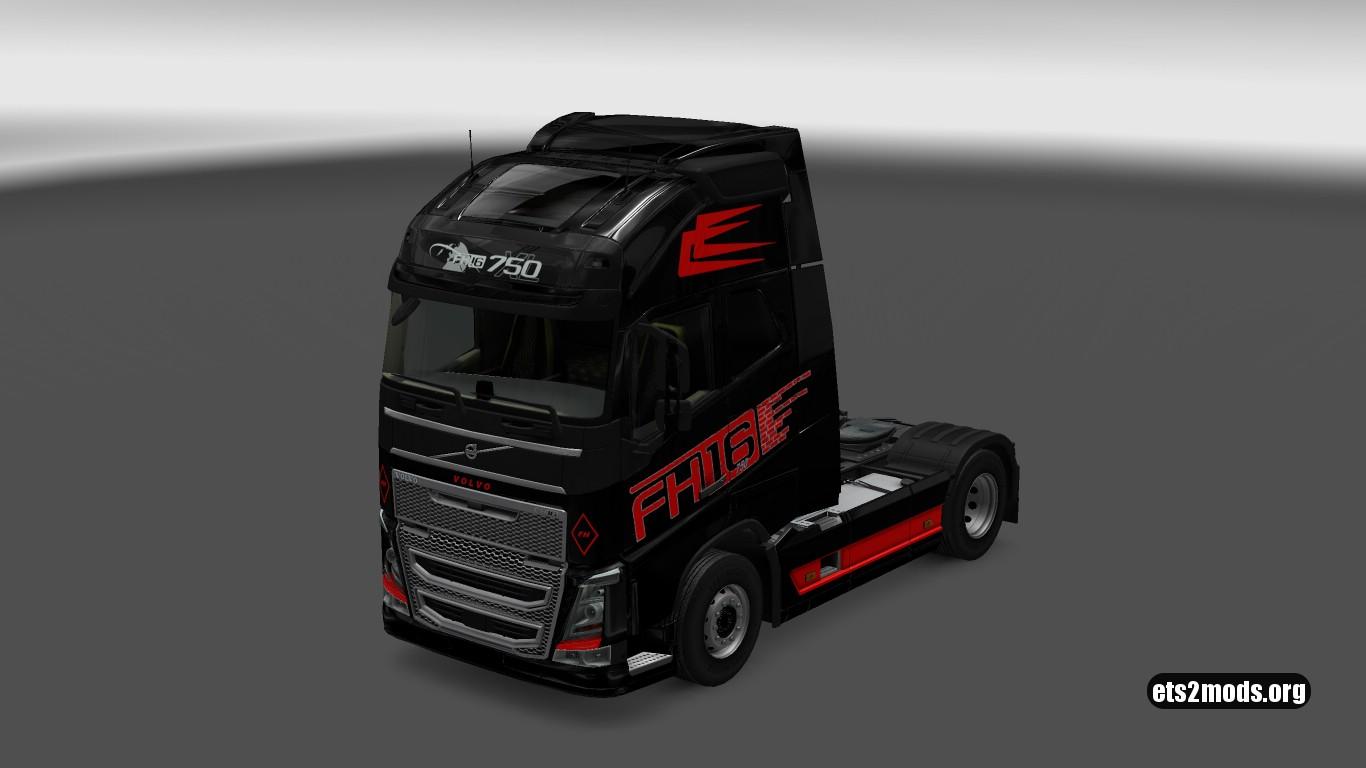 Red & Black skin for Volvo 2012